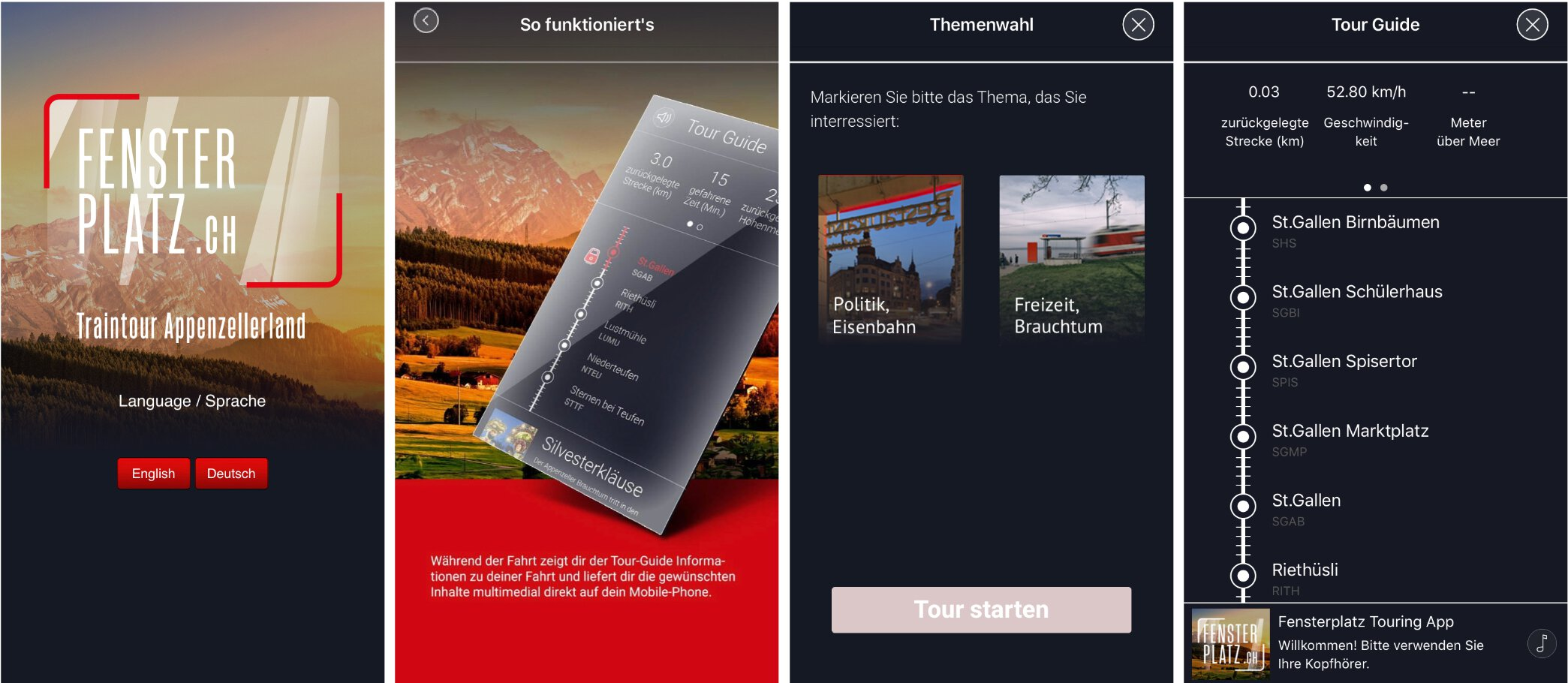 A moving listening experience - Digital travel guide for Swiss Railways