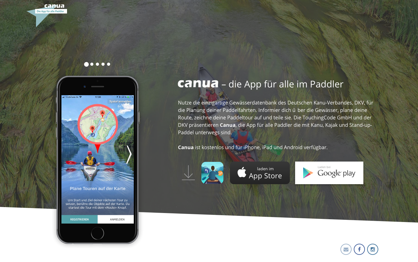 Canua.info Website für Paddler