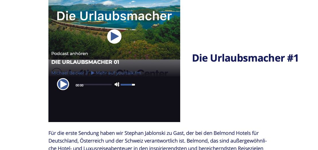 Dieurlaubsmacher.fm - The very first Post